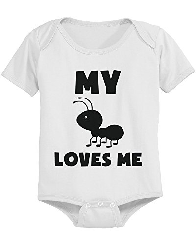 My Ant Loves Me Bodysuit Cute Infant White Bodysuit Gift for Baby Shower (Best Baby Gifts From Aunt)