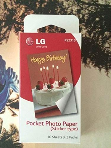 Printer Parts 30 Pcs photographic Paste paper Zink PS2203 Smart Mobile Printer for LG Photo Printer PD221/PD251 PD233 PD239 Print Paper Paste