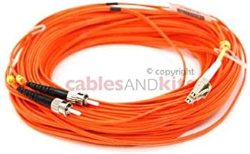 Lifetime Wty 3 Meters LC to ST Multimode Duplex 62.5//125 OM1 Fiber Patch Cable