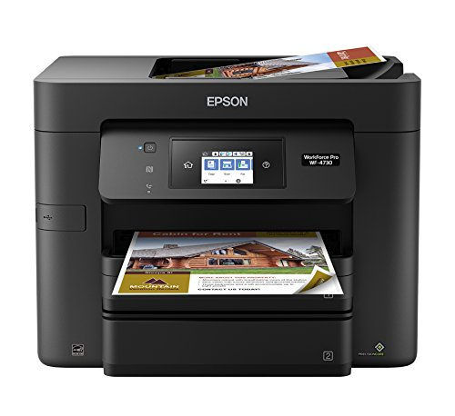 Epson WorkForce Pro WF-4730 Wireless All-in-One Color Inkjet Printer, Copier, Scanner with Wi-Fi Direct, Amazon Dash Replenishment Enabled by Epson