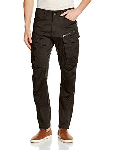 Raw Cargo - G-Star Raw Men's Rovic Zip 3D Tapered, Raven, 30x32