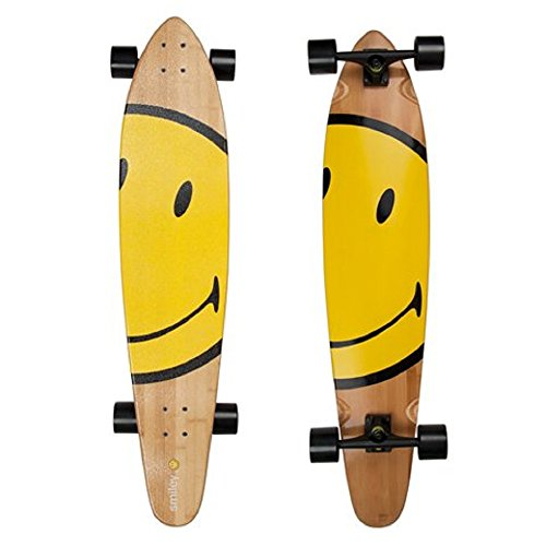 Smiley Longboard - Face 45 - Neue Version 2014 - perfektes Board zum Cruisen - 107cm