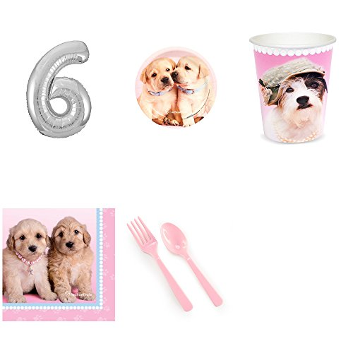 - Rachael Hale Glamour Dogs 6th Birthday Party Supplies Pack for 16