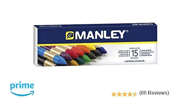 Manley 136124, Ceras, 15 Unidades, Tamaño Único, Multicolor ...