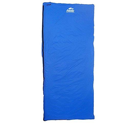 Aektiv Outdoor Sleeping Bag Travel Hiking Camping Multifuntional Ultra-light Envelope Sleeping Bags (Light Blue)