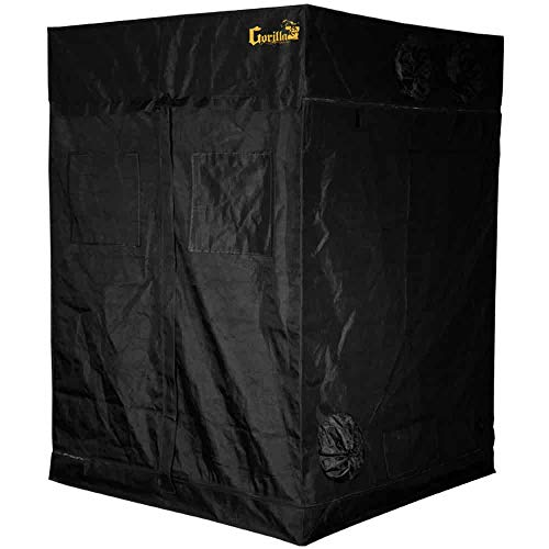 Gorilla Grow Tent | Complete Heavy-Duty 1680D Reflective Hydroponic Grow 5-Foot by 5-Foot Tent for Growing Indoor Plants…