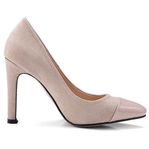 Mujer Mode Zapatos Beige Tacon Zanpa qaZ4wdq