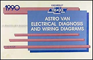 1990 chevy astro van wiring diagram manual original amazon com books rh amazon com Chevy Astro Van Parts Fuel 1998 Astro Van Wiring Diagram