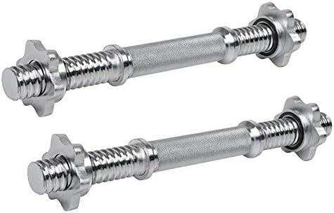 Hantelstange kurz mit Sternverschl/üssen L/änge 35,5 cm /Ø 30 mm Stahl verchromt Kurzhantel massiv und ger/ändelt 1//2er ScSPORTS/® Kurzhantelstange