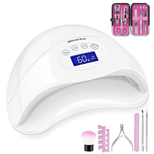Morpilot 48W LED UV Gel Nail Lamp with 4 Timer Setting Senso