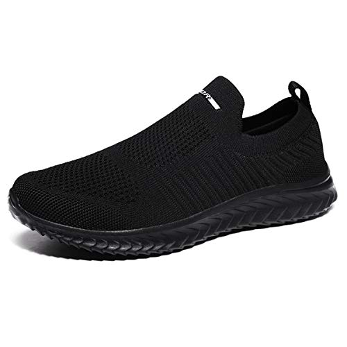 Men's Trainers Lightweight Walking Shoes Womens Gym Trainers Slip On Sneakers for Running Jogging Sports Fitness