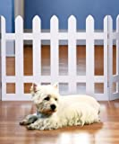 FOLDING WHITE PICKET FENCE PET GATE - ADJUSTS TO OVER 3 1/2 FT.WIDE!