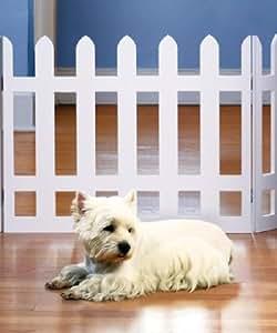 Amazon Com Folding White Picket Fence Pet Gate Adjusts