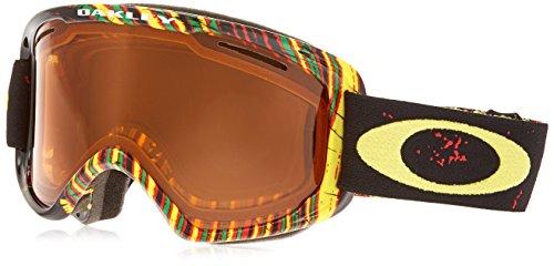 Rasta Ski (Oakley OO7066-31 O2 XM Eyewear, Stumped Rasta, Persimmon)