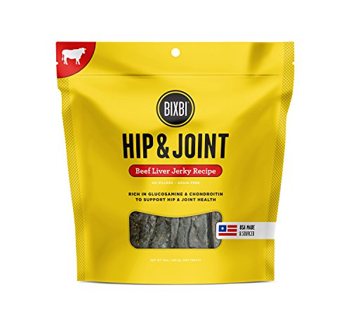 BIXBI Hip & Joint Dog Jerky Treats, Beef Liver, 15 Ounce