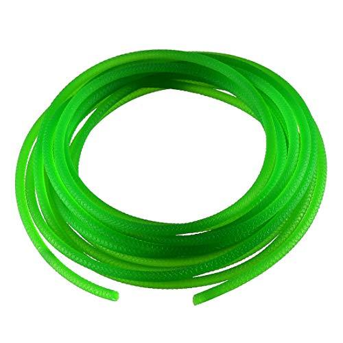 uxcell 16ft 3mm PU Transmission Round Belt High-Performance Urethane Belting Green for Conveyor Bonding Machine Dryer (16' Belt)