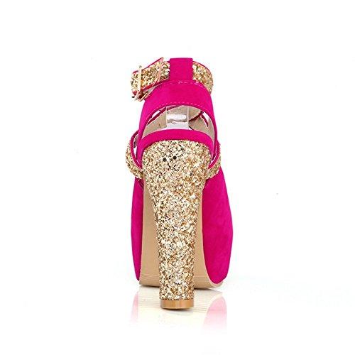 mujer para de Sandalias rosa Adee vestir rojo IP4pwxqx
