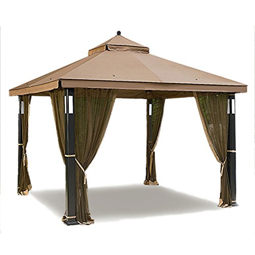 Open Box Replacement Canopy Top for the Garden Oasis Lighted Gazebo – RipLock 350 For Sale