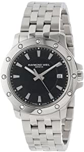 Raymond Weil Men's 5599-ST-20001 Tango Stainless Steel Case and Bracelet Black Dial Watch