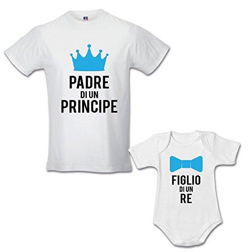 Papa' Figlio Una Maschietto Babloo Coppia Idea Un Principessa Regalo Di Bianche di Principe T Padre shirt wqB4Ypa