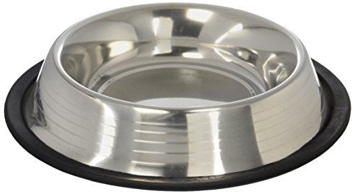 (Bergan Stainless Steel Bowl w Ridges, Heavy Duty Non-Skid, 2 Cup)