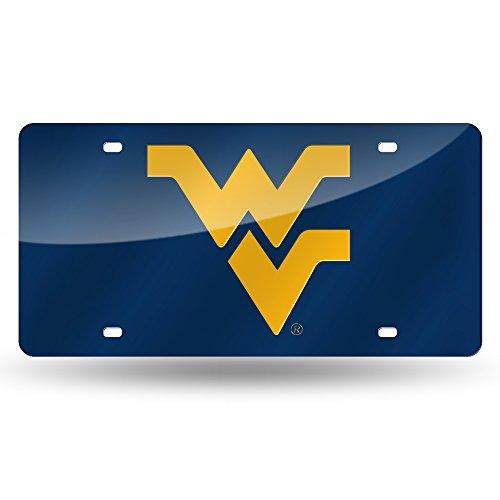 (NCAA West Virginia Mountaineers Laser Inlaid Metal License Plate Tag)