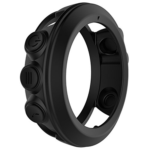 FitTurn For Garmin Fenix 3/Garmin Fenix 3 HR Case Cover/Cover Sleeve/Band cover Protector Silicone Band Cover Case Apply For Garmin Fenix 3/Fenix 3 HR/Fenix 3Sapphire/Quatix 3/Tactix Br (Black)