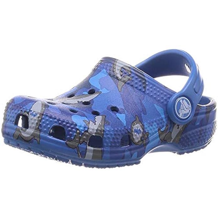 Crocs Kids' Classic American Flag Clog   4th of July Shoes   Slip On Shoes