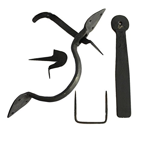 Colonial Wrought Iron Spear THUMB LATCH set hand made door hardware For Restoration -
