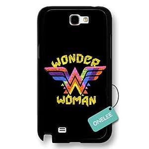 Onelee(TM) - Customize Cartoon Black Superwoman Wonder Woman Samsung Galaxy Note 2 Case - Black 5 hjbrhga1544