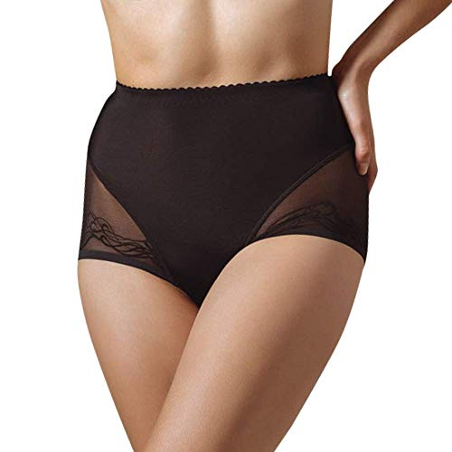 Lavinia Semi Sheer High Waist Brief Shaper Panty Mia, Black, 3XL