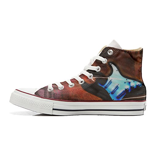 Converse All Star Customized Unisex - zapatos personalizados (Producto Artesano) Guitar Style