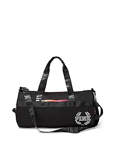 Victoria's Secret PINK Gym Duffle Tote Bag (Black - Pink Gym Bag Victoria Secret
