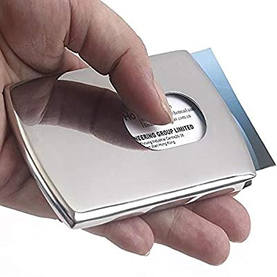 Hot Sale!DEESEE(TM)Wallet Business Stainless Steel Box Name Credit ID Card Holder Pocket Case