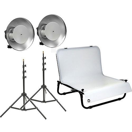 Impact Desktop Studio Shooting Table Two Light Kit (120VAC) by Impact