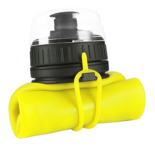 SHOKE Collapsible Water Bottle Soft Silicone Portable with Leak Proof for Sports Traveling BPA Free 19/25 Ounce