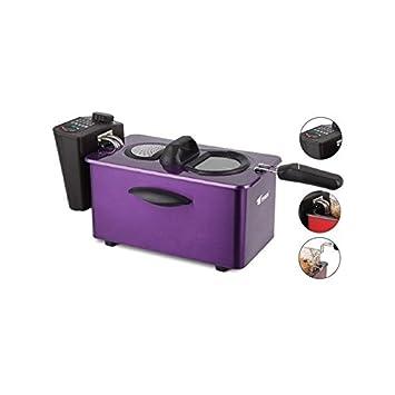 Freidora eléctrica con depósito de aceite de 3.5 litros Thulos TH-FR35W: Amazon.es