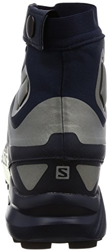 Salomon Snowcross 2 Cs Imperméable Trail Chaussures De Course Pour Les Hommes Blazer Marine, Argent Réfléchissant, Poinçon De Lime