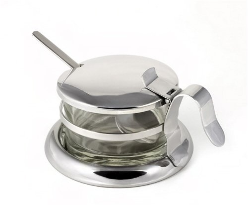 Grated Server Cheese (StainlessLUX 73441 Brilliant Stainless Steel Salt Server / Cheese Bowl / Condiment Serving Bowl & Spoon Set - Quality Serveware for Your Home)