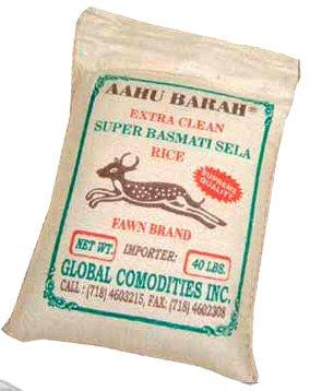 Aahu Barah Super Basmati Rice - 40 lbs by Aahubarah