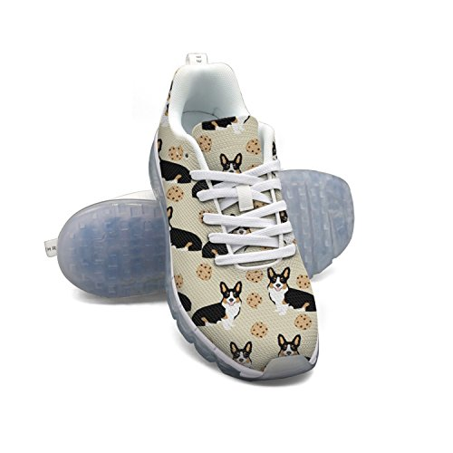 Sneakers HMAG Running Cute Dog Lightweight Air Cushion Shoes Women's Running Casual Shoe Sneakers Corgi Trail nbsp; Breathable Walking 0rS0OP4