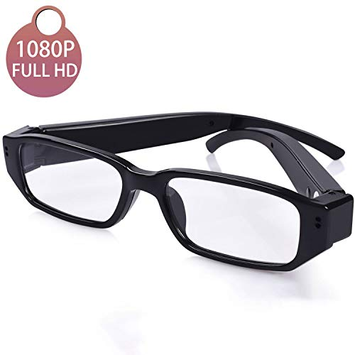 [Upgraded] Sukia 1080P Full HD Spy Camera Glasses Wearable Hidden Camera with Video Recording Mini Sport Outdoor Video Glasses with Camera (32G SD Card Included) (Best Spy Glasses With Camera)