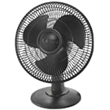 Lasko Products, 12 Table Fan 3-speed (black) (Catalog Category: Indoor/Outdoor Living / Fans & Air Conditioners)