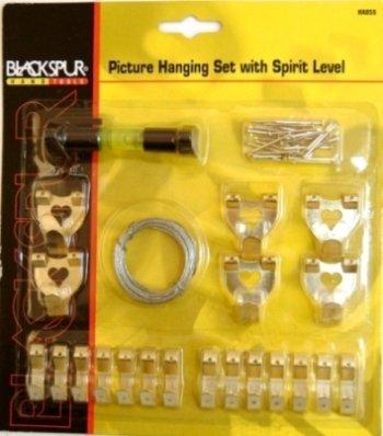 con livella a bolla Set di accessori per appendere quadri Blackspur
