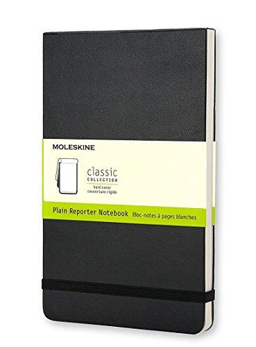 - Pack of 2 Moleskine Reporter Notebook, Large, Plain, Black, Soft Cover (5 x 8.25) (Reporter Notebooks)