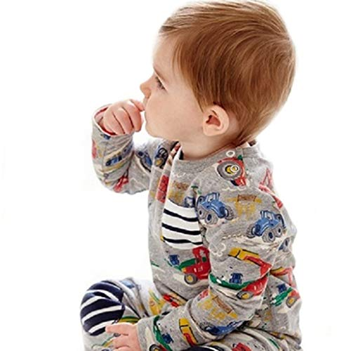 Qpika Children Kids Fashion Boys &Girls O-Neck Long Sleeved Cartoon Dinosaur Print Tops Blouse Clothes -