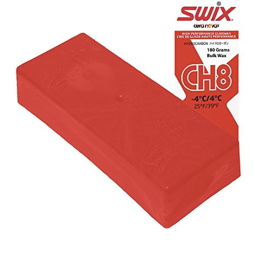 Race Wax Swix - Swix Hydrocarbon Wax: CH8X Red: 180 grams: Bulk Wax