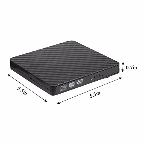 TJ8 External CD Drive-USB 3.0 Portable Slim CD DVD +/-RW Drive Writer/Rewriter/Burner,High Speed Date Transfer for WIN7/8/10/Linux/Mac OS Macbook Laptop Desktop Notebook by TJ8 (Image #5)