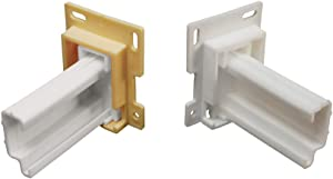 RV Designer H307, Drawer Slide Socket Set, ? - Shape, 2 Per Pack, Cabinet Hardware
