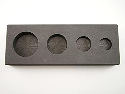 Silver Copper Made in The USA!!! 1-2-5-10 oz Gold Bar High Density Graphite Round Mold 4-Cavities